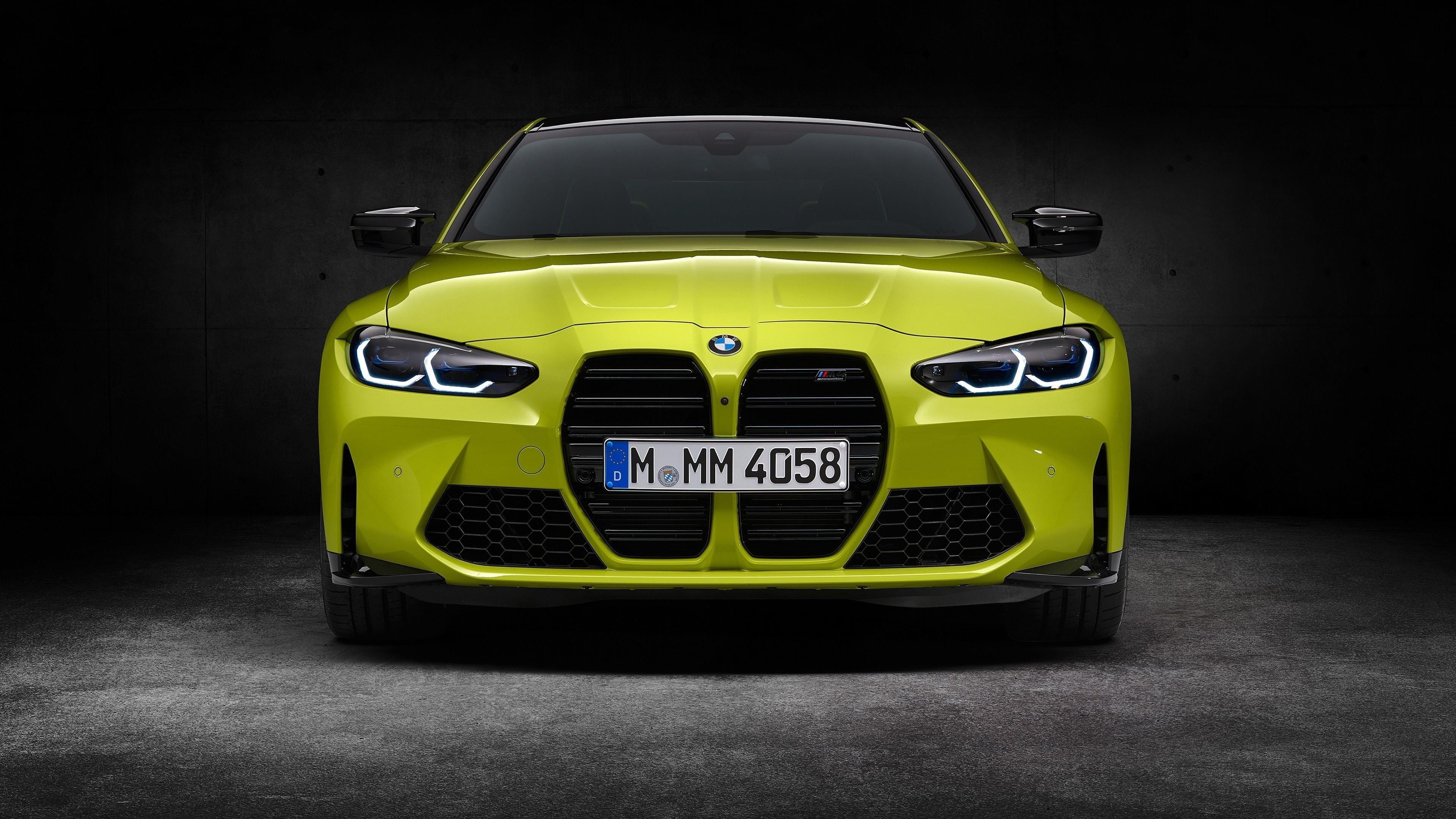 Светло-зеленый bmw m4 competition 2020 3 автомобиля обои скачать