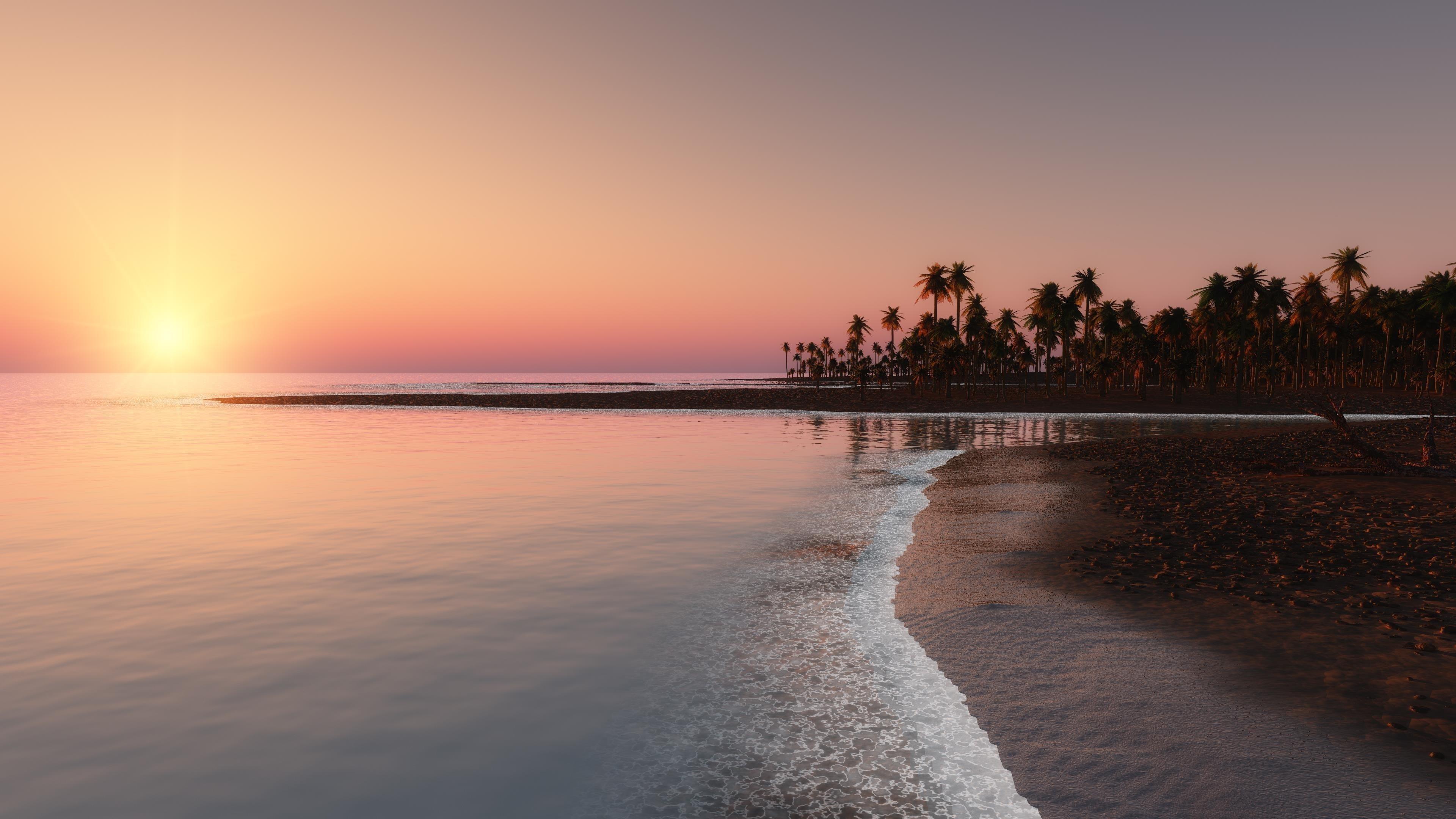 Райский пляж обои скачать