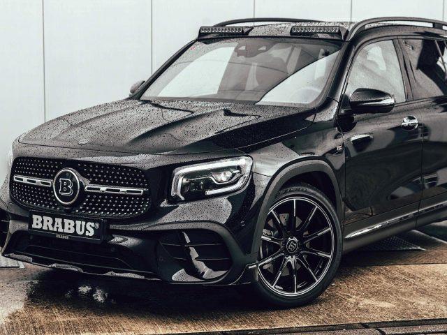 Черный mercedes brabus benz glb 250 amg line 2020 hd автомобили