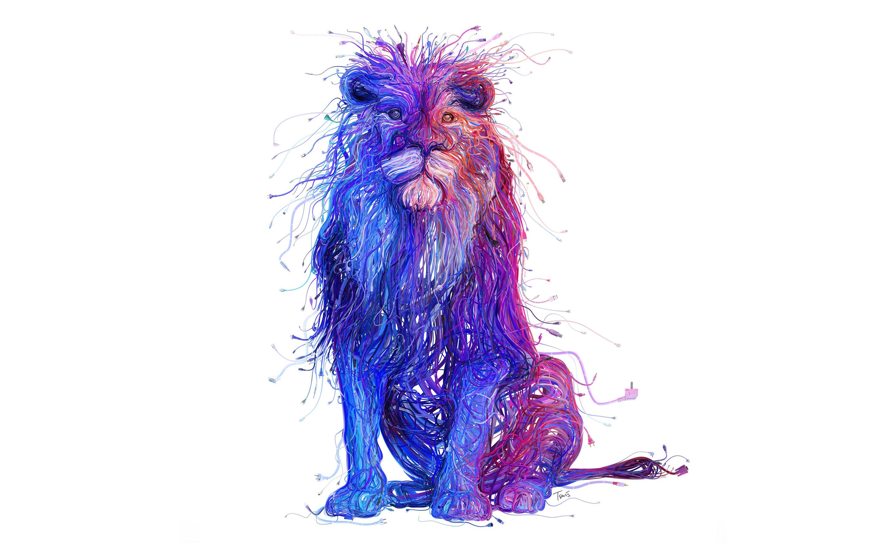 Russian wired lion 8k. обои скачать