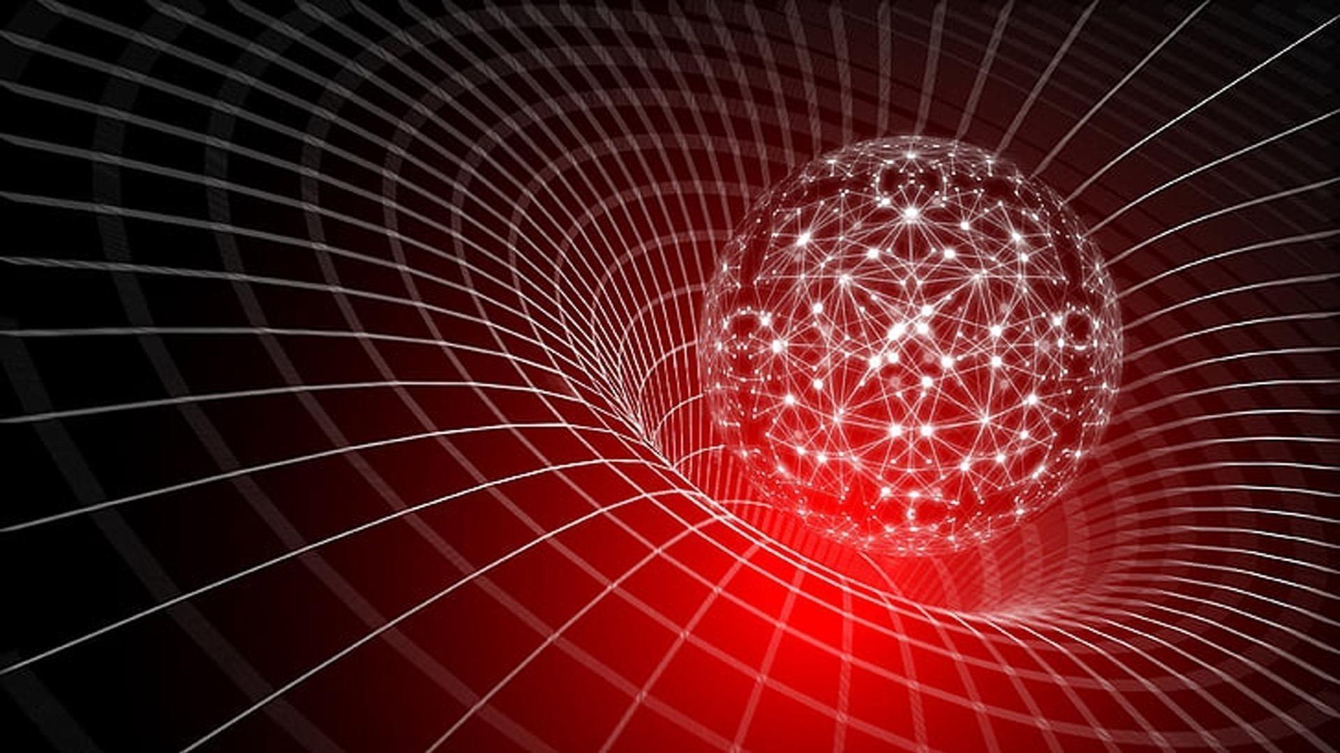 Красный свет белая линия круга абстракция абстракция обои скачать