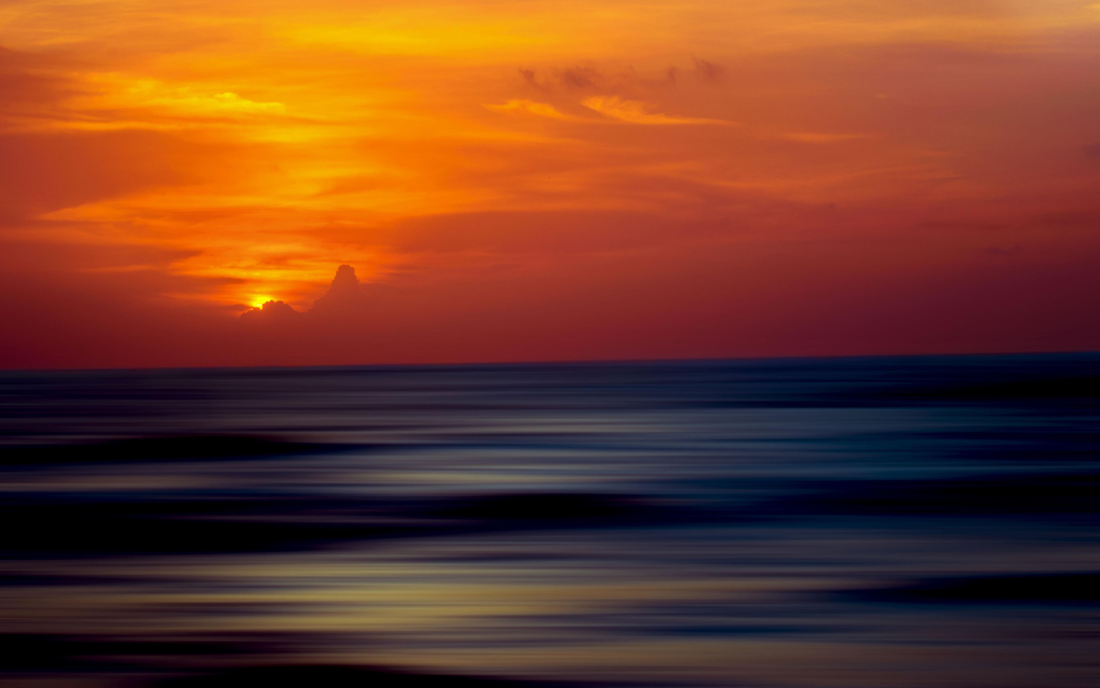 Закат океана обои скачать