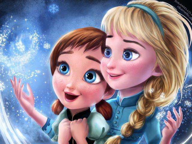 Замороженные elsa Анна сестры.