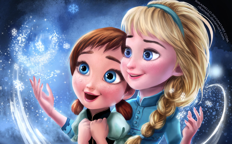 Замороженные elsa Анна сестры. обои скачать