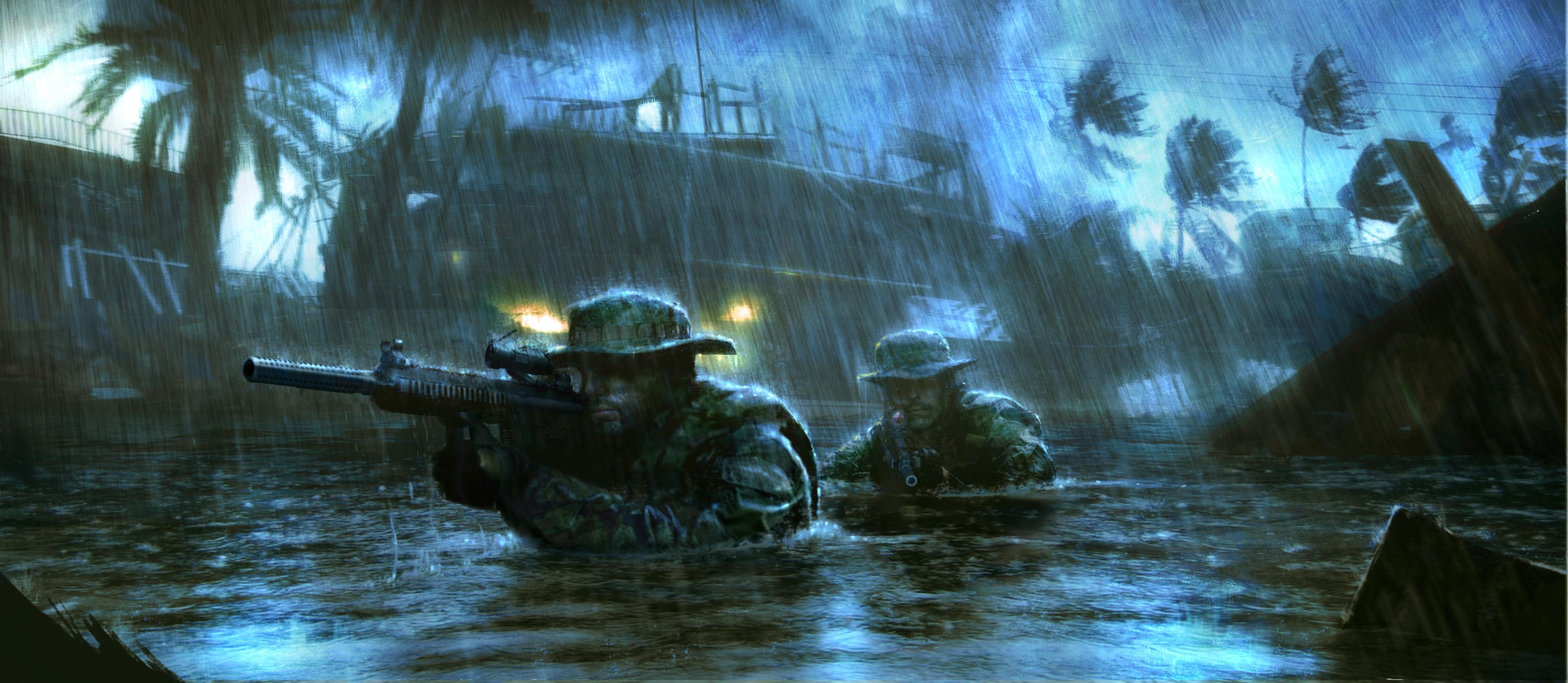 Medal of Honor Warfighter, солдаты, дождь обои скачать