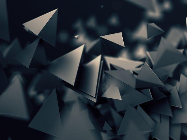 3D треугольники темно