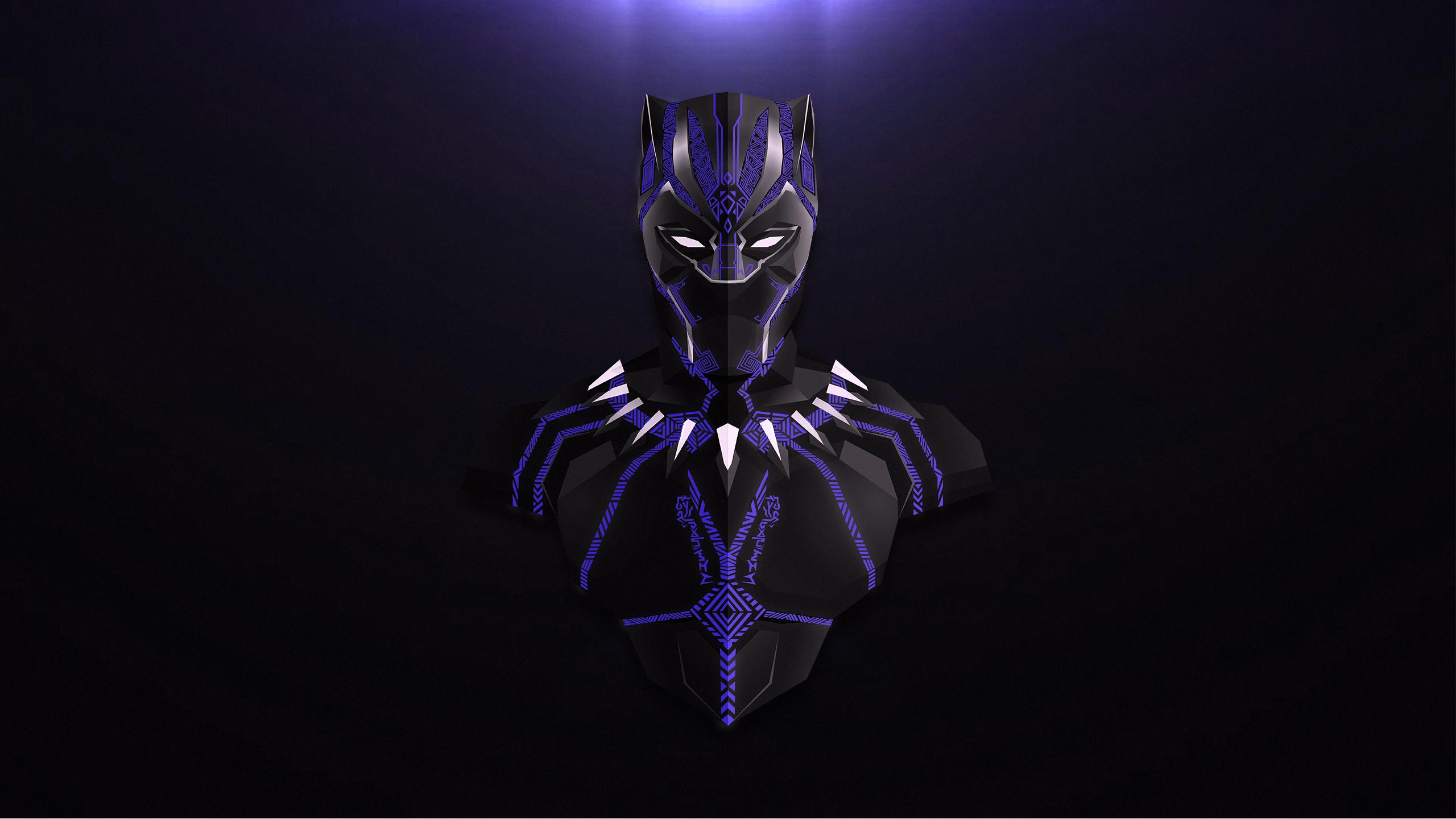 Черная пантера Мстители бесконечность войны минимальные произведения искусства обои скачать
