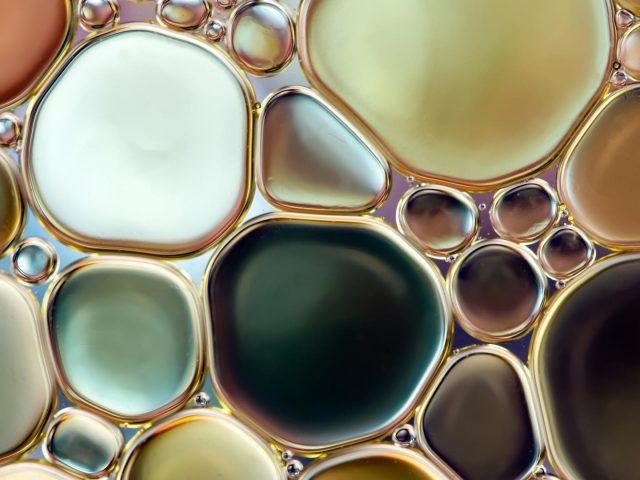 Круг водяного пузыря абстрактный