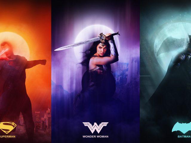 Лига справедливости супермен чудо женщина Бэтмен