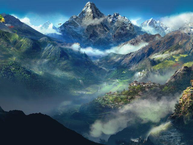 Далеко Гималаи.