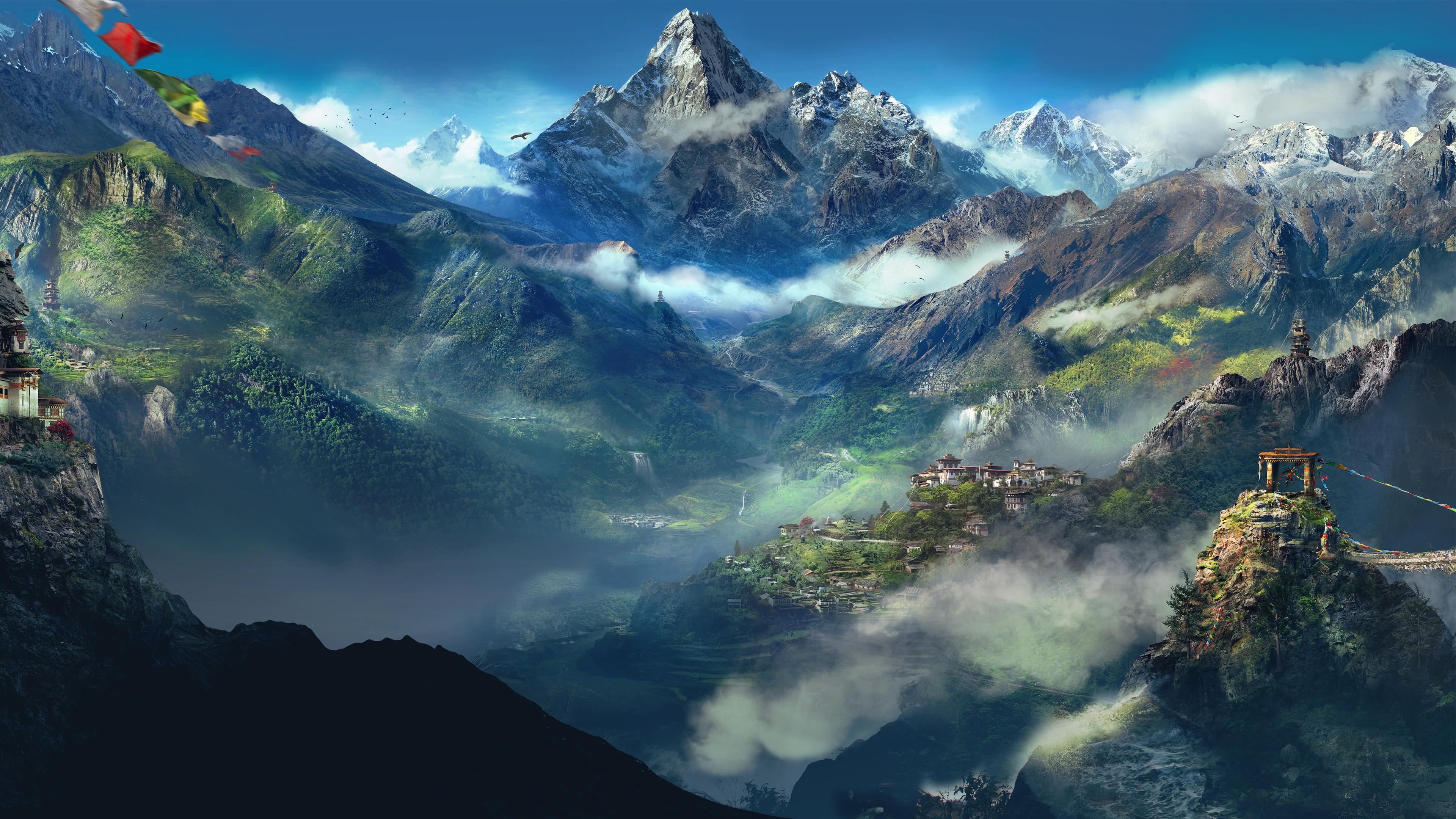 Далеко Гималаи. обои скачать