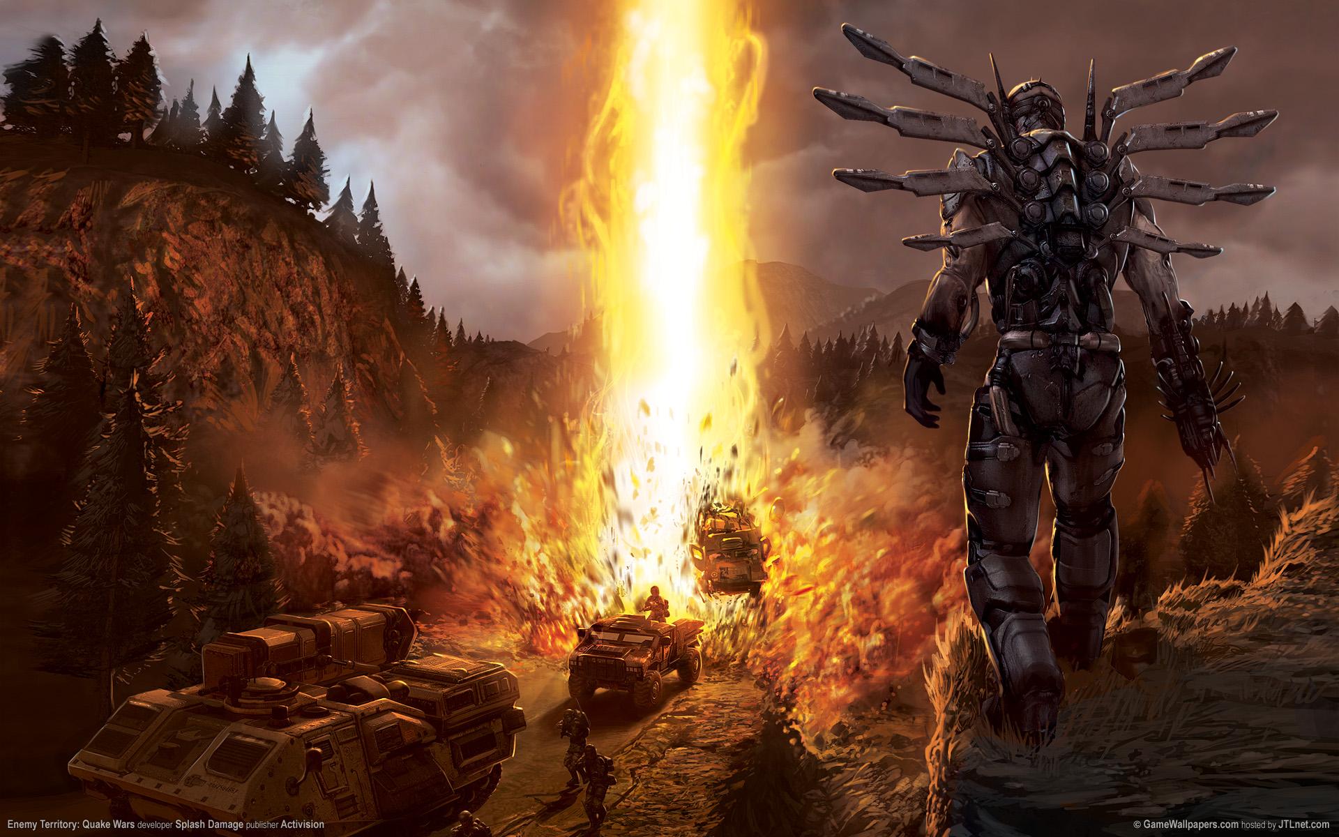 Взрыв, Enemy Territory: Quake Wars обои скачать