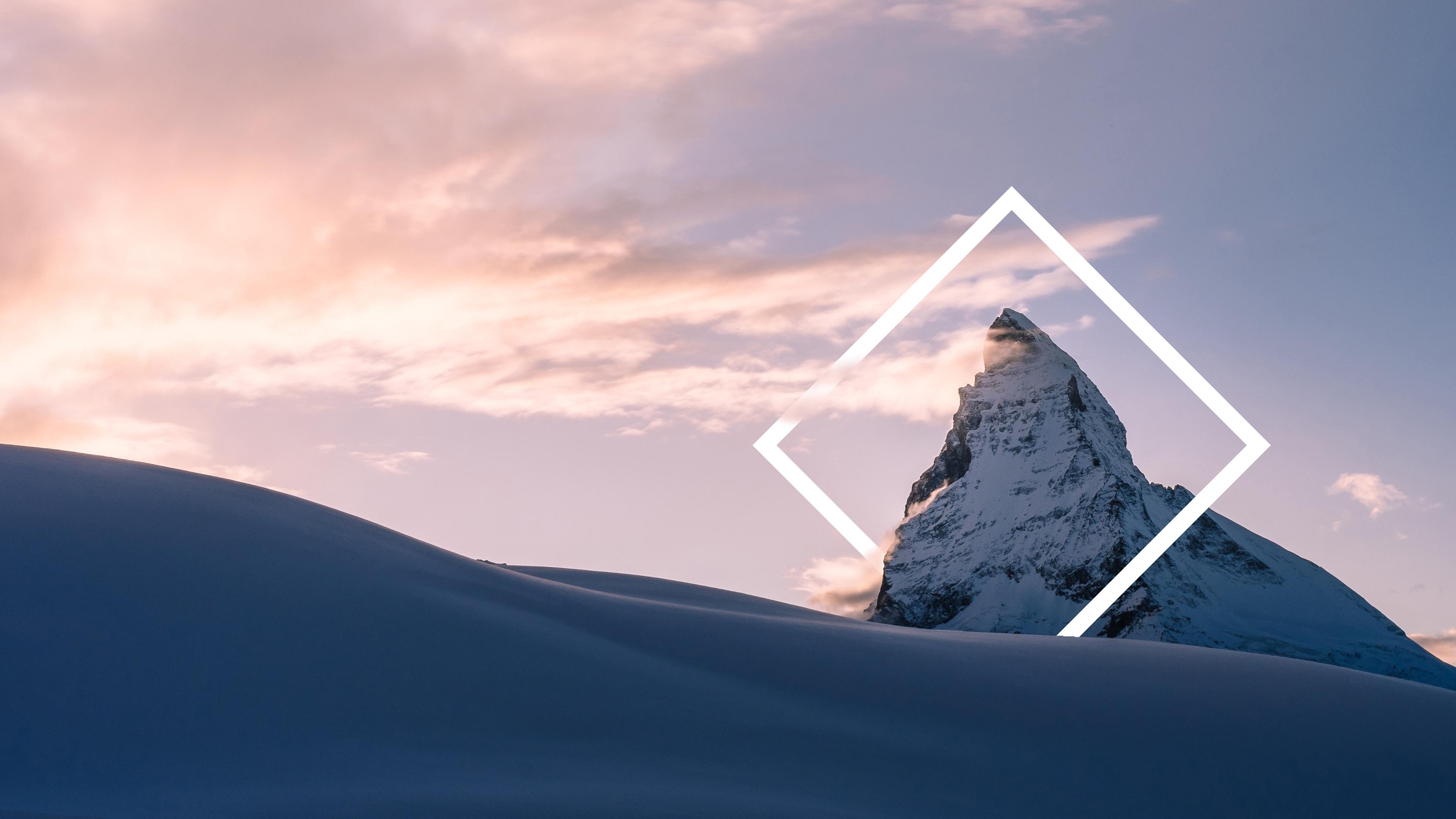Снежная горная вершина обои скачать