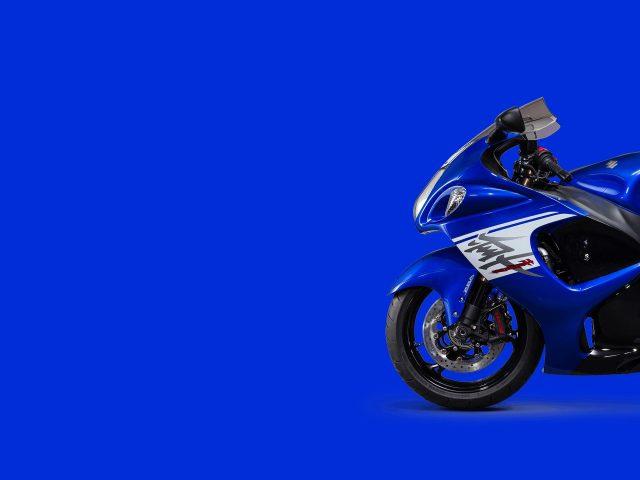 Suzuki hayabusa синий