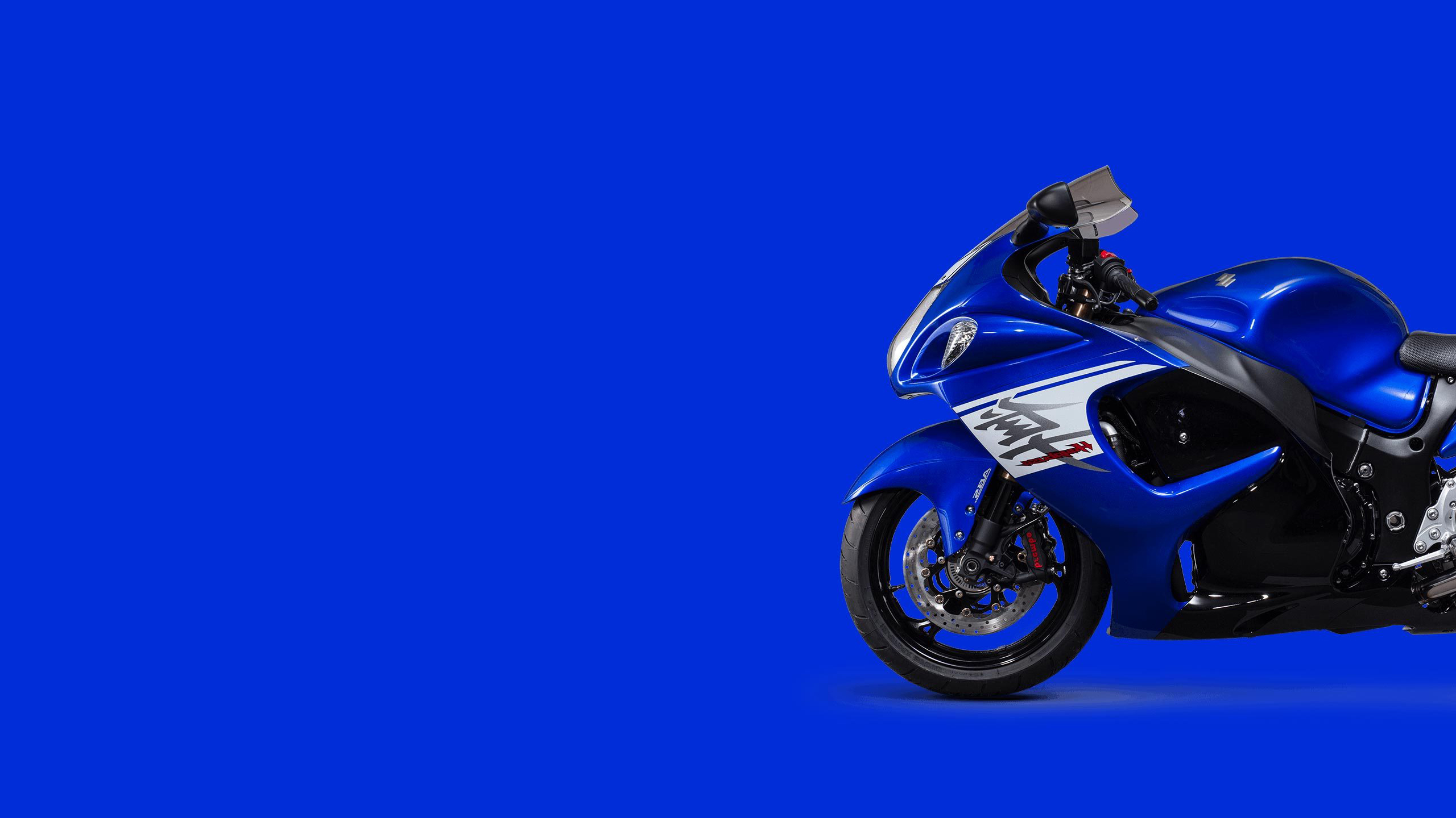 Suzuki hayabusa синий обои скачать