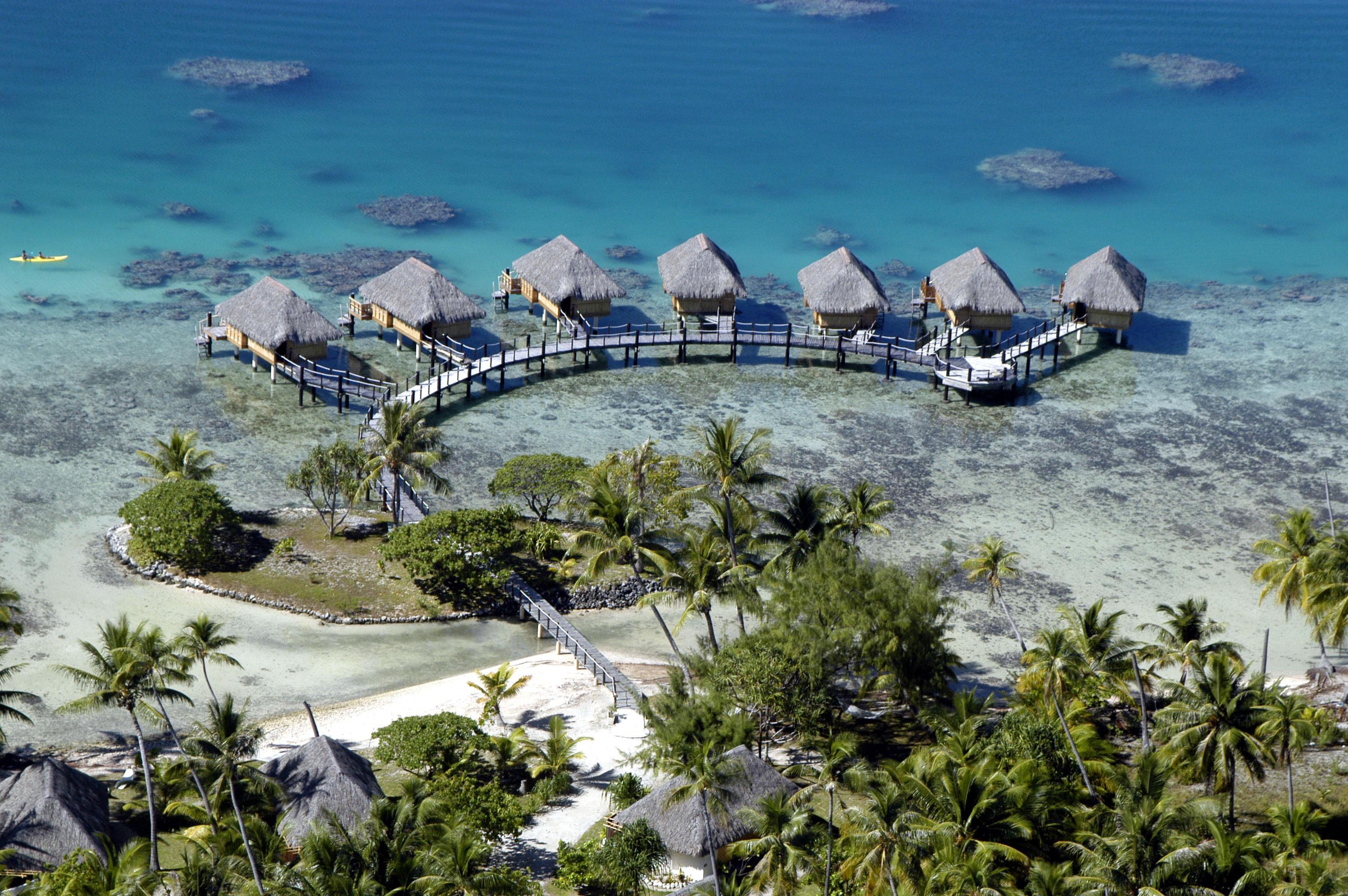 Океан, пляж, отель, экзотика обои скачать