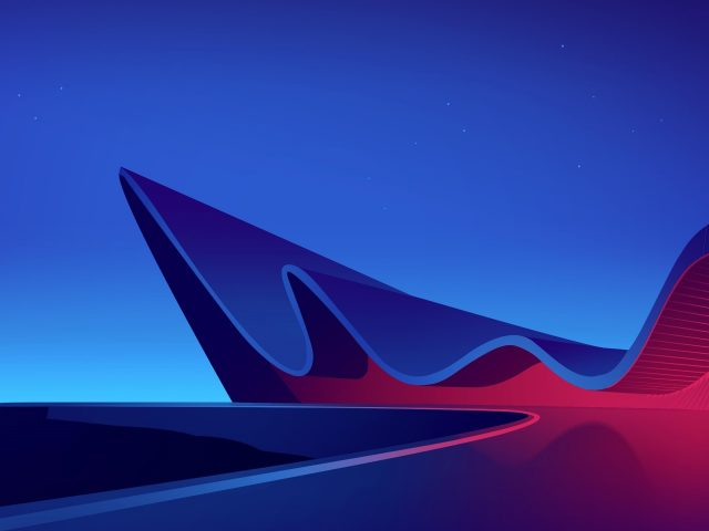 Архитектура неоновой волны
