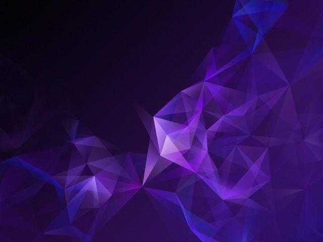 Низкий Поли пурпур дыма