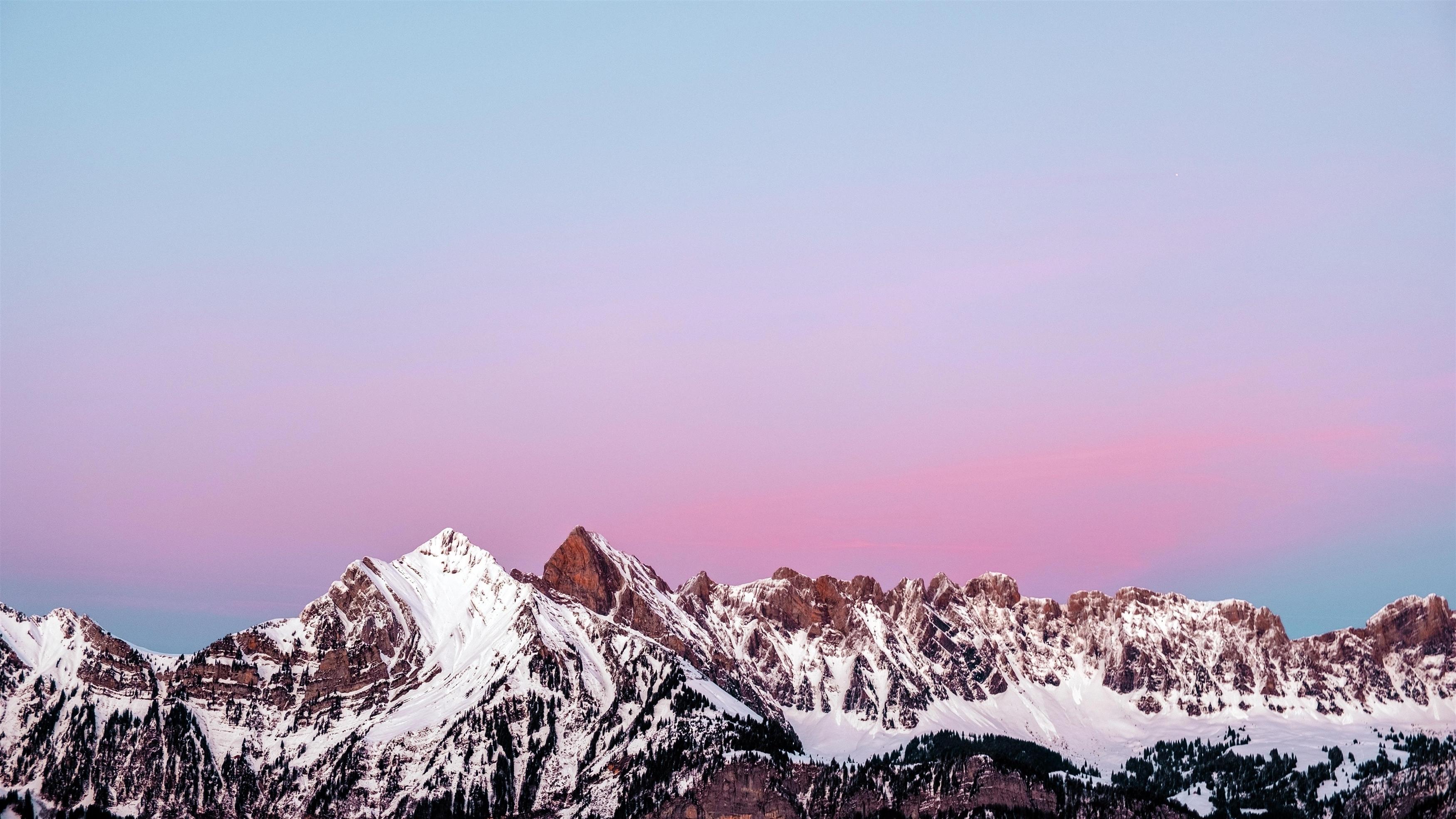 Снежная гора обои скачать