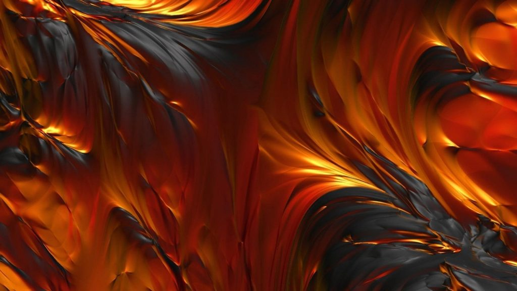 Оранжевая желтая черная лава абстрактная обои скачать