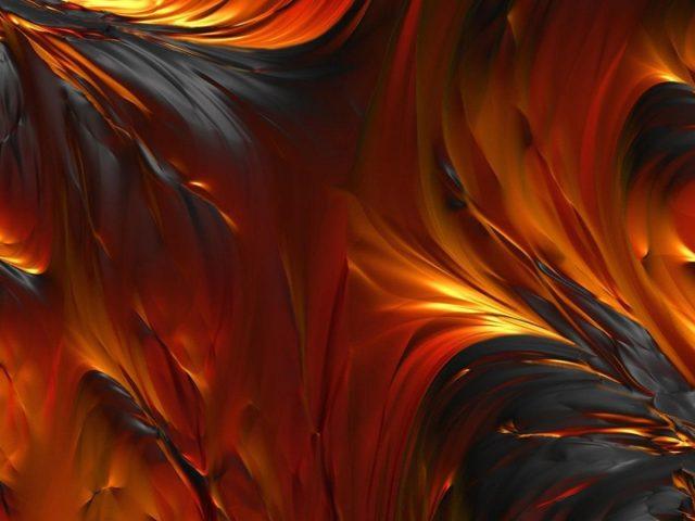 Оранжевая желтая черная лава абстрактная