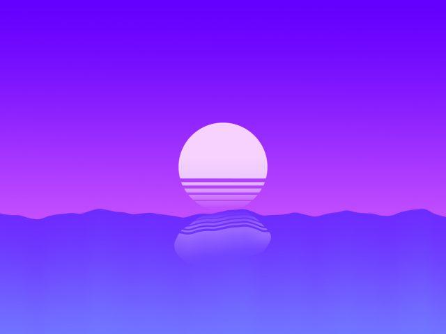 Фиолетовый закат минимальный