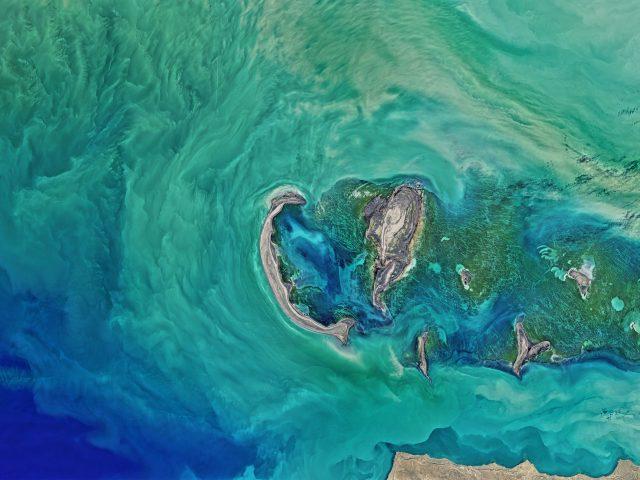 Северной части Каспийского моря НАСА