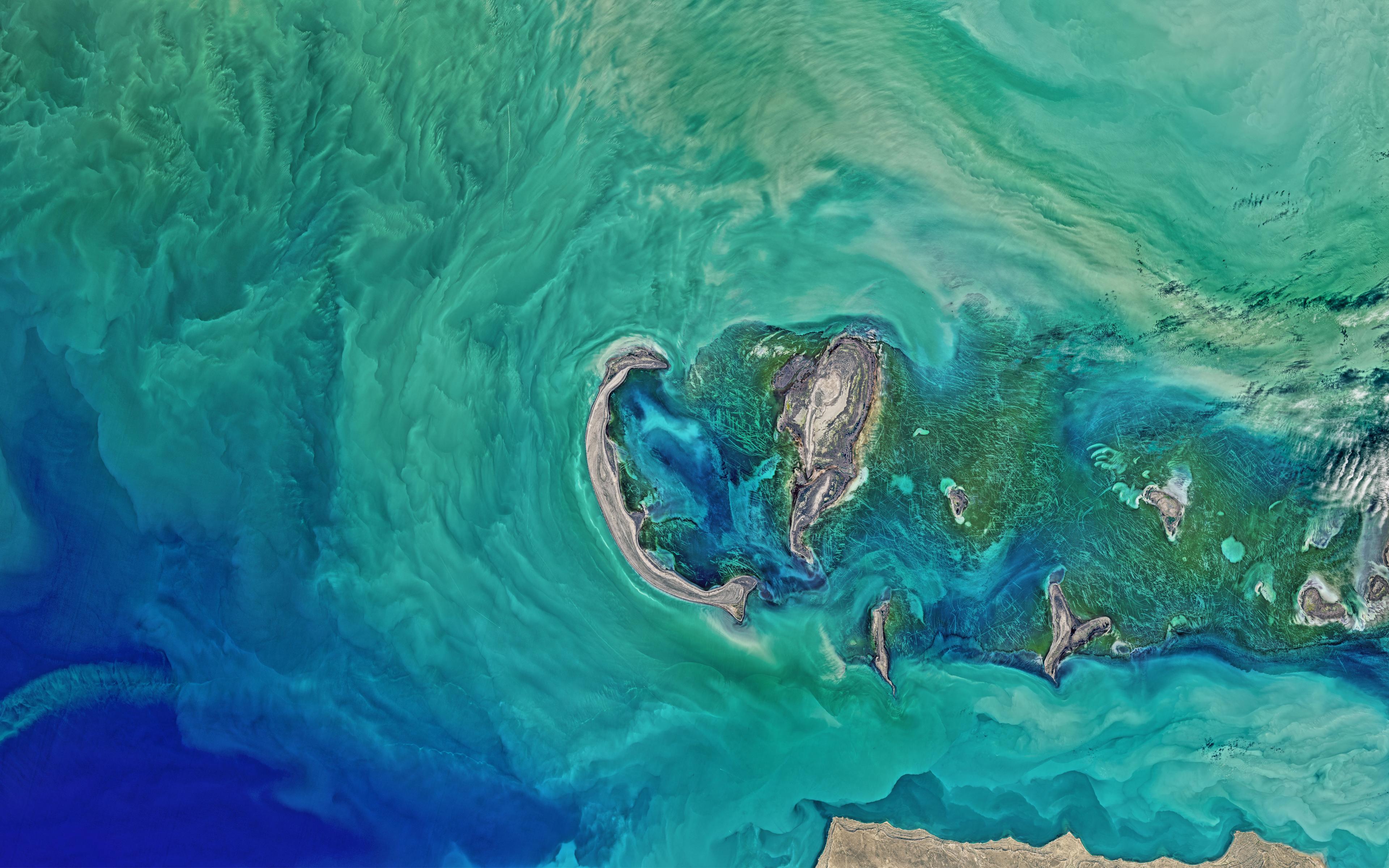 Северной части Каспийского моря НАСА обои скачать