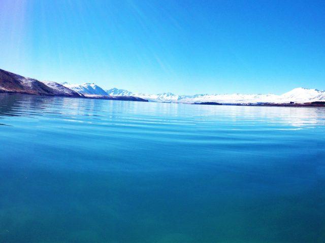 Озеро текапо район Маккензи Новой Зеландии.