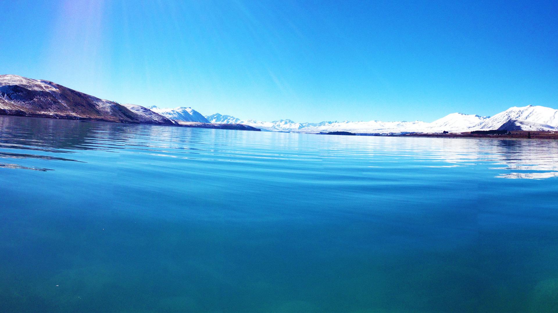Озеро текапо район Маккензи Новой Зеландии. обои скачать