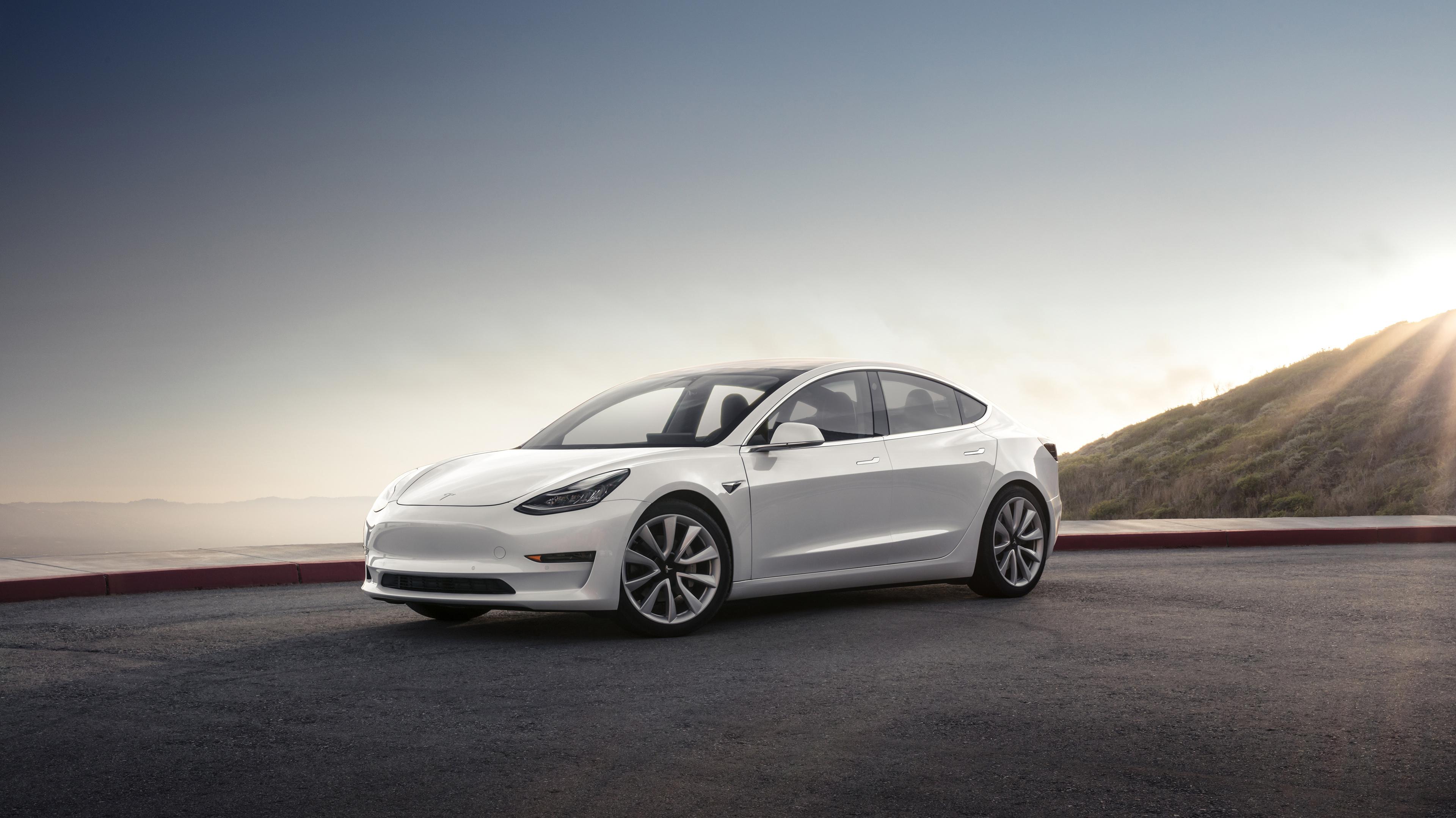 Модели Tesla 3 4к. обои скачать