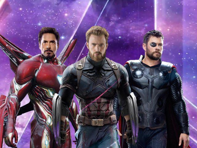 Железный человек Капитан Америка ТОР в Мстители бесконечности войны