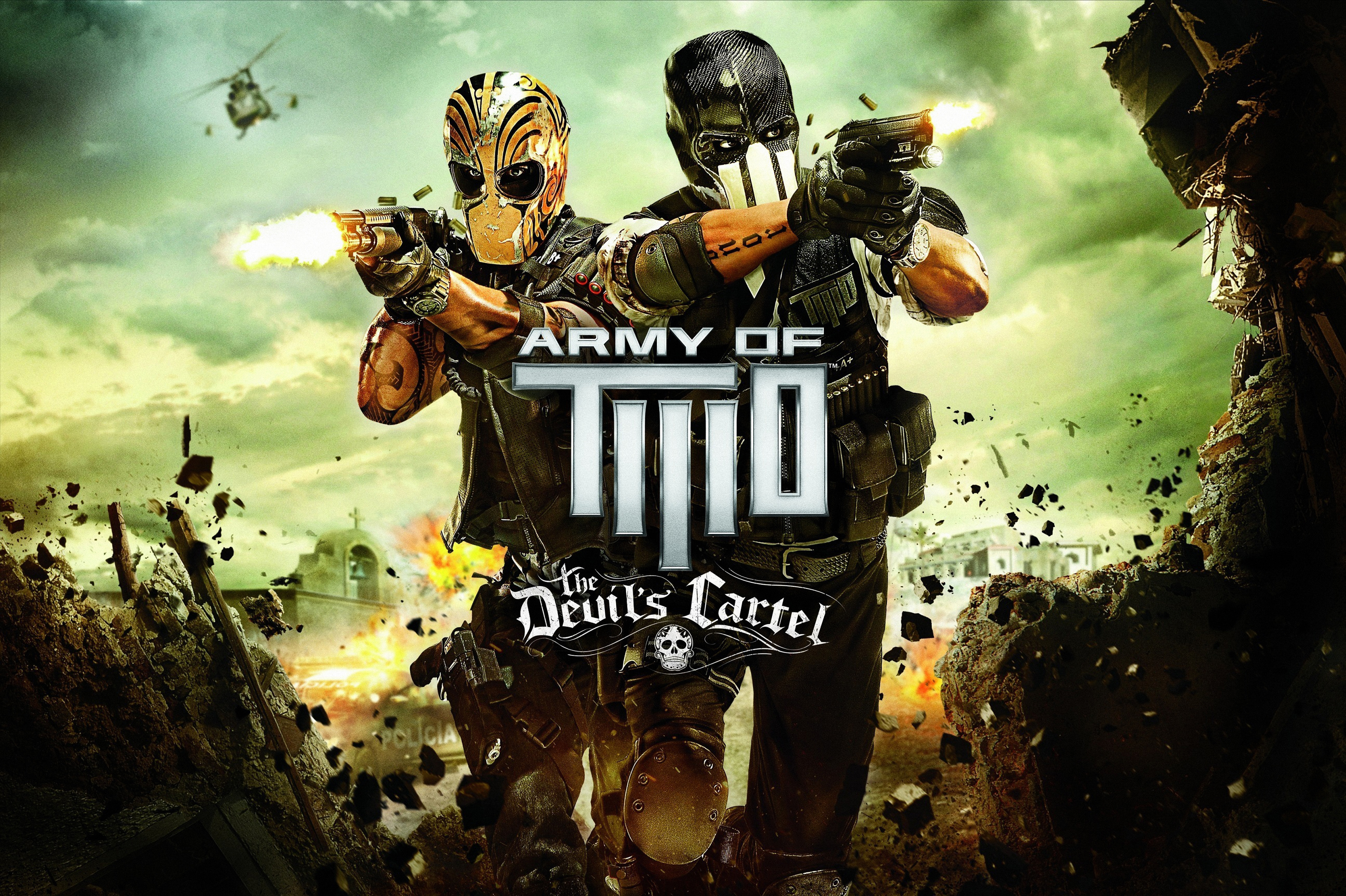 Army of Two: The Devil's Cartel, Альфа, Браво, Мексика обои скачать