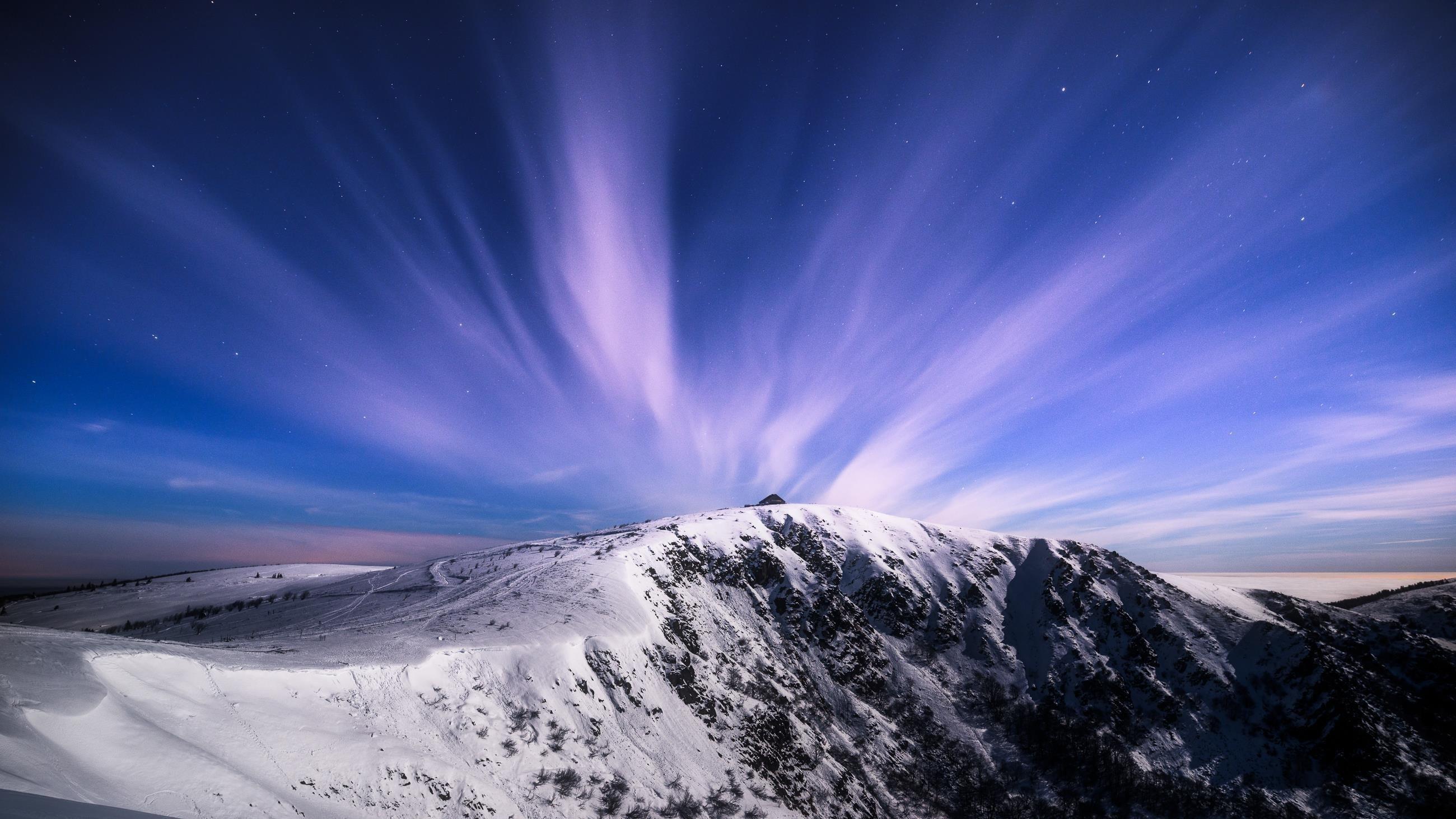 Зимние горы обои скачать