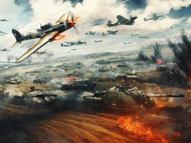 Война гром битвы 8к.