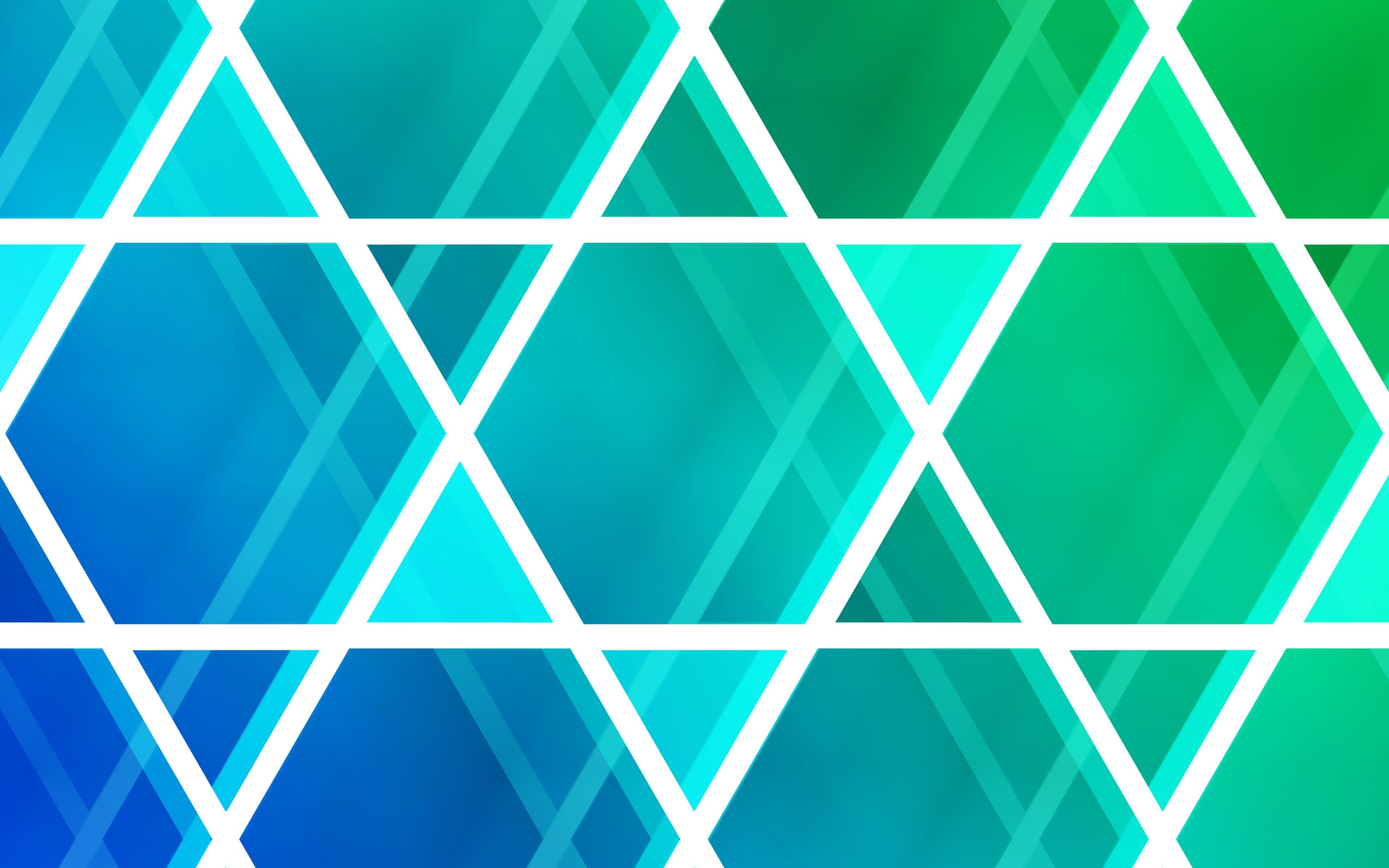 Неоновые треугольники обои скачать