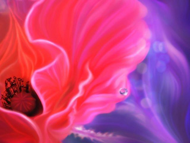 Крупным планом розовый фиолетовый лепесток иллюзорный цветок абстрактный