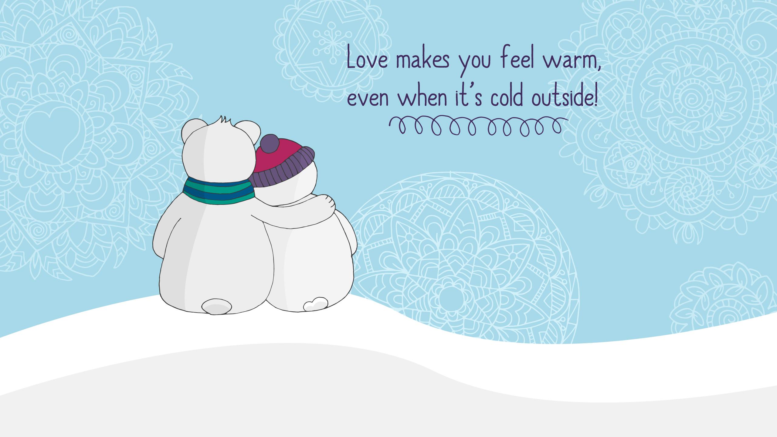 Любовь делает вас теплым обои скачать