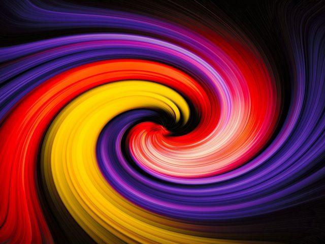 Красочные спиральные линии абстракция абстракция