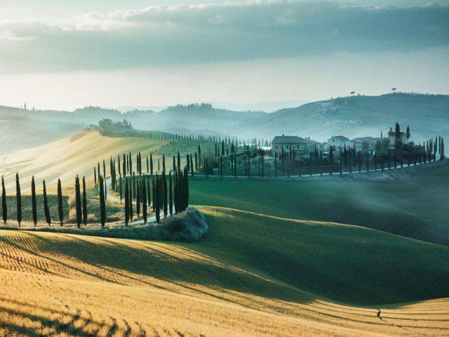 Тоскана пейзаж Италия