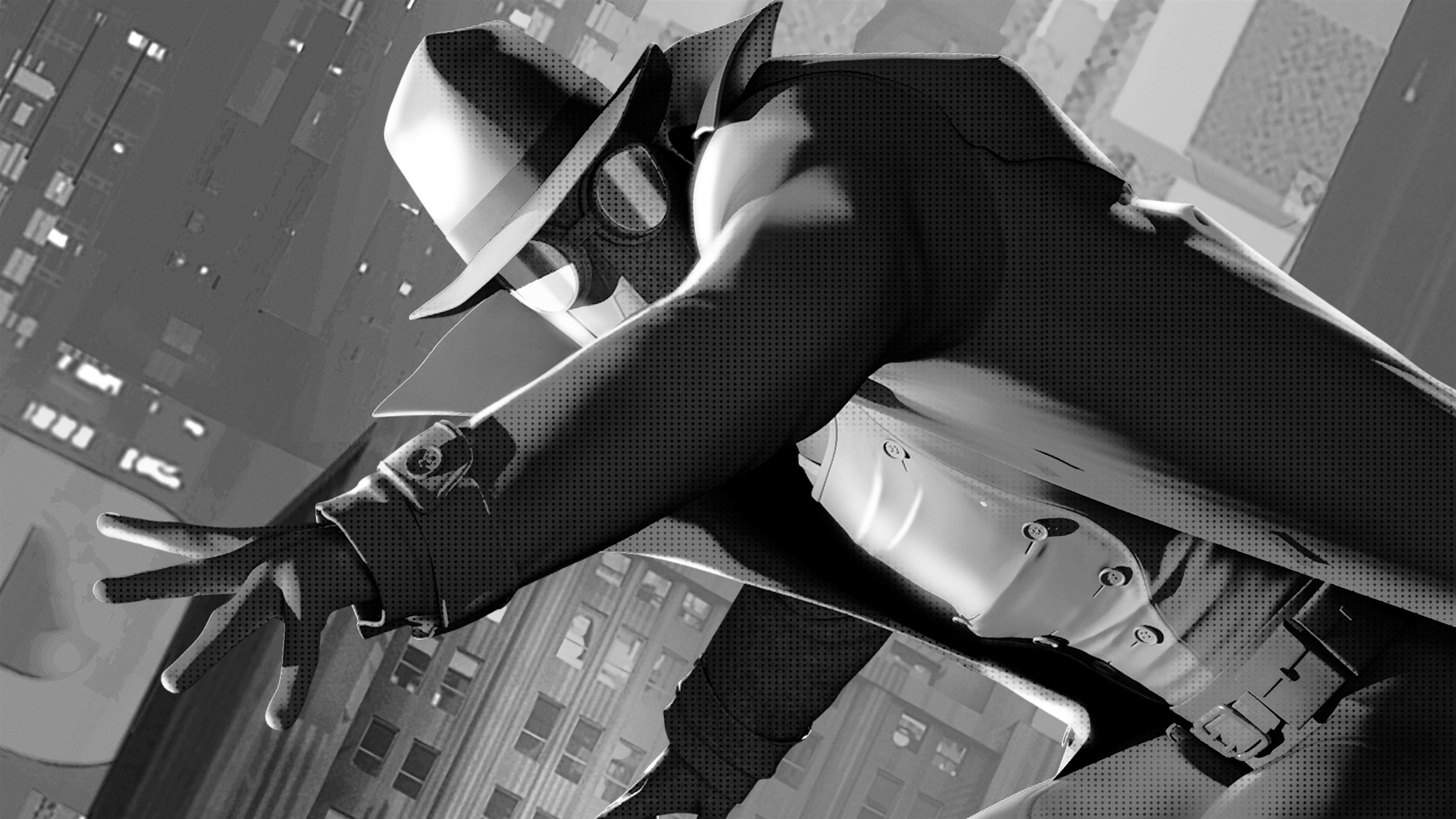 Человек-Паук Нуар в Человек-паук в паук-стих обои скачать