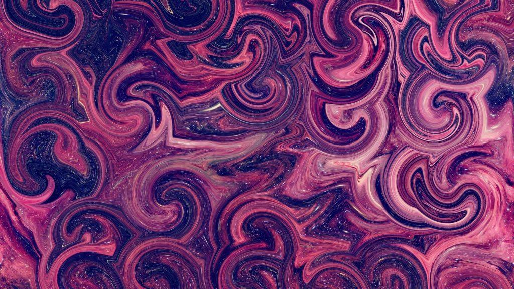 Розовые фигуры искусство абстракция обои скачать