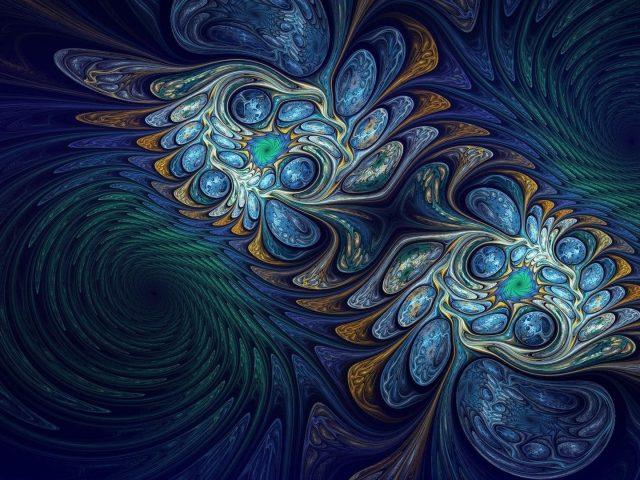 Красочные пузыри фрактальное искусство абстракция