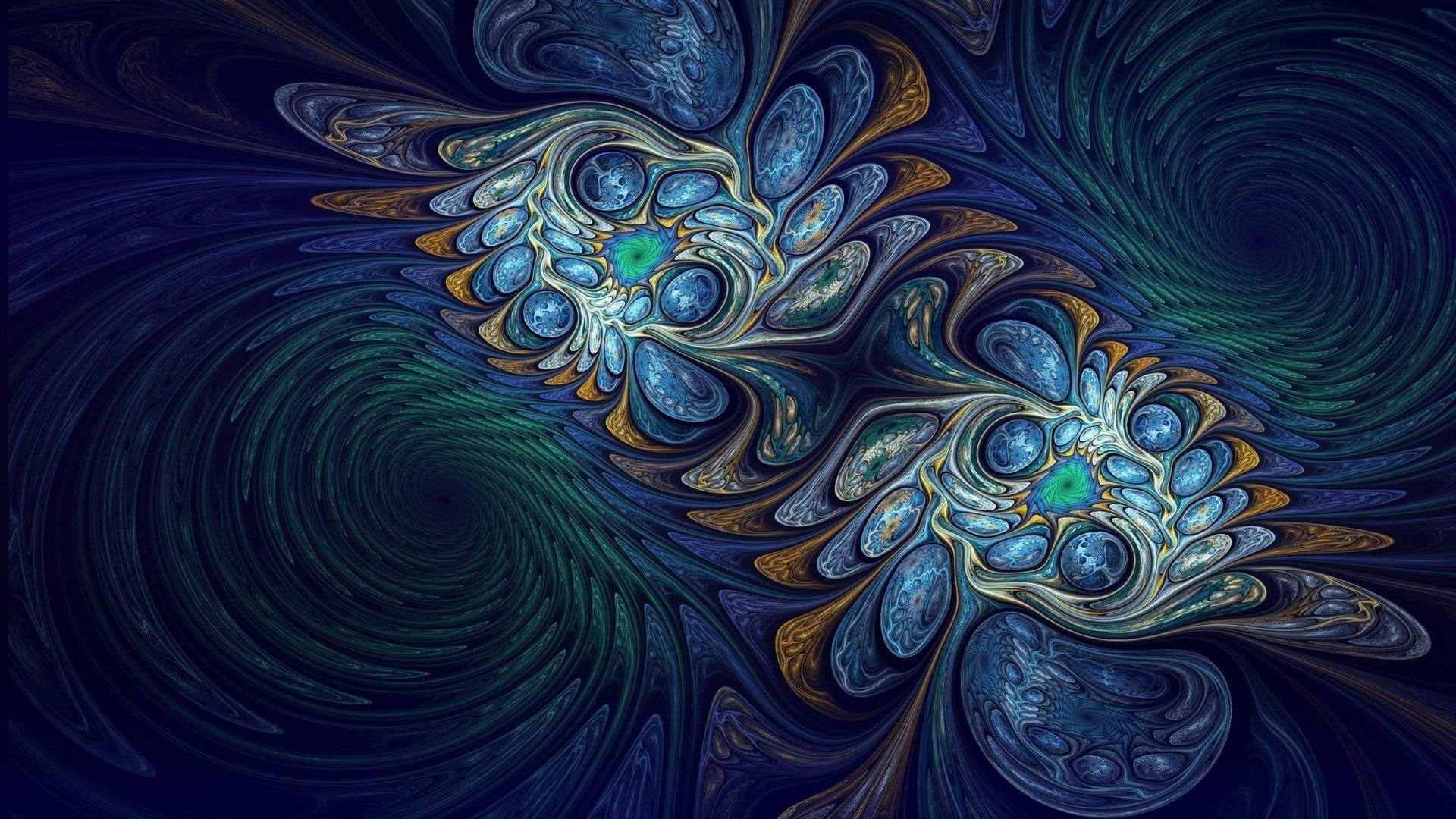 Красочные пузыри фрактальное искусство абстракция обои скачать