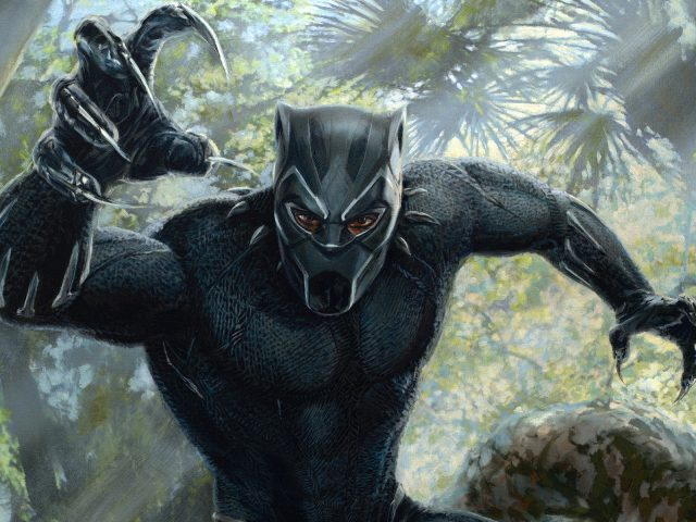 Художественное произведение черной пантеры