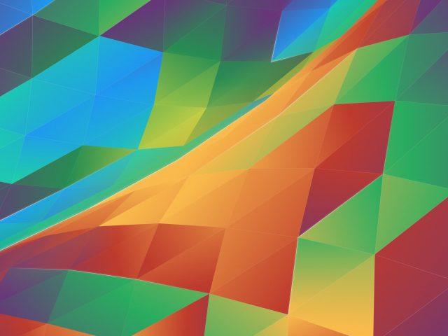 Красочные абстрактные треугольники