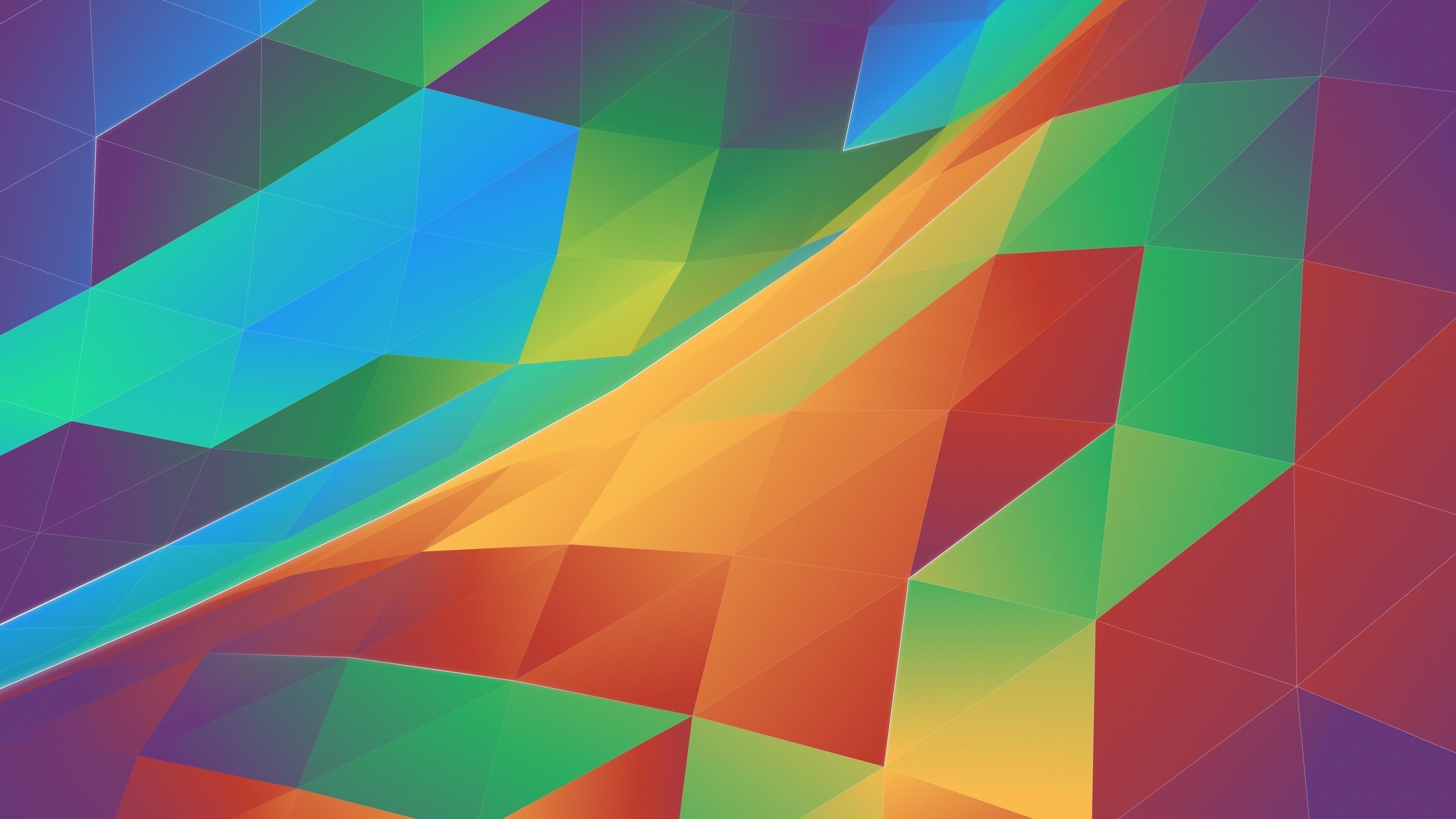 Красочные абстрактные треугольники обои скачать