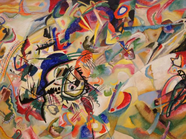 Разноцветная абстрактная живопись art abstract
