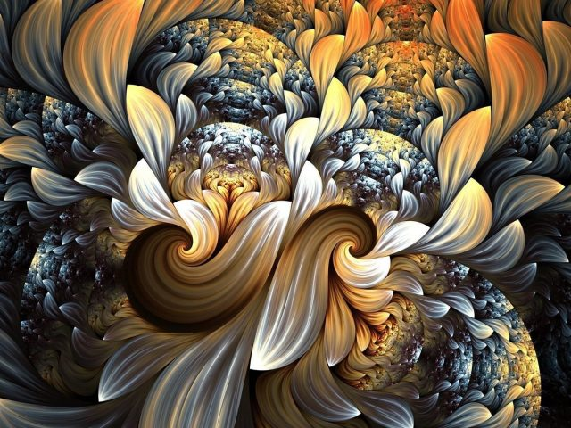 Абстрактные фракталы художественные завихрения абстрактные