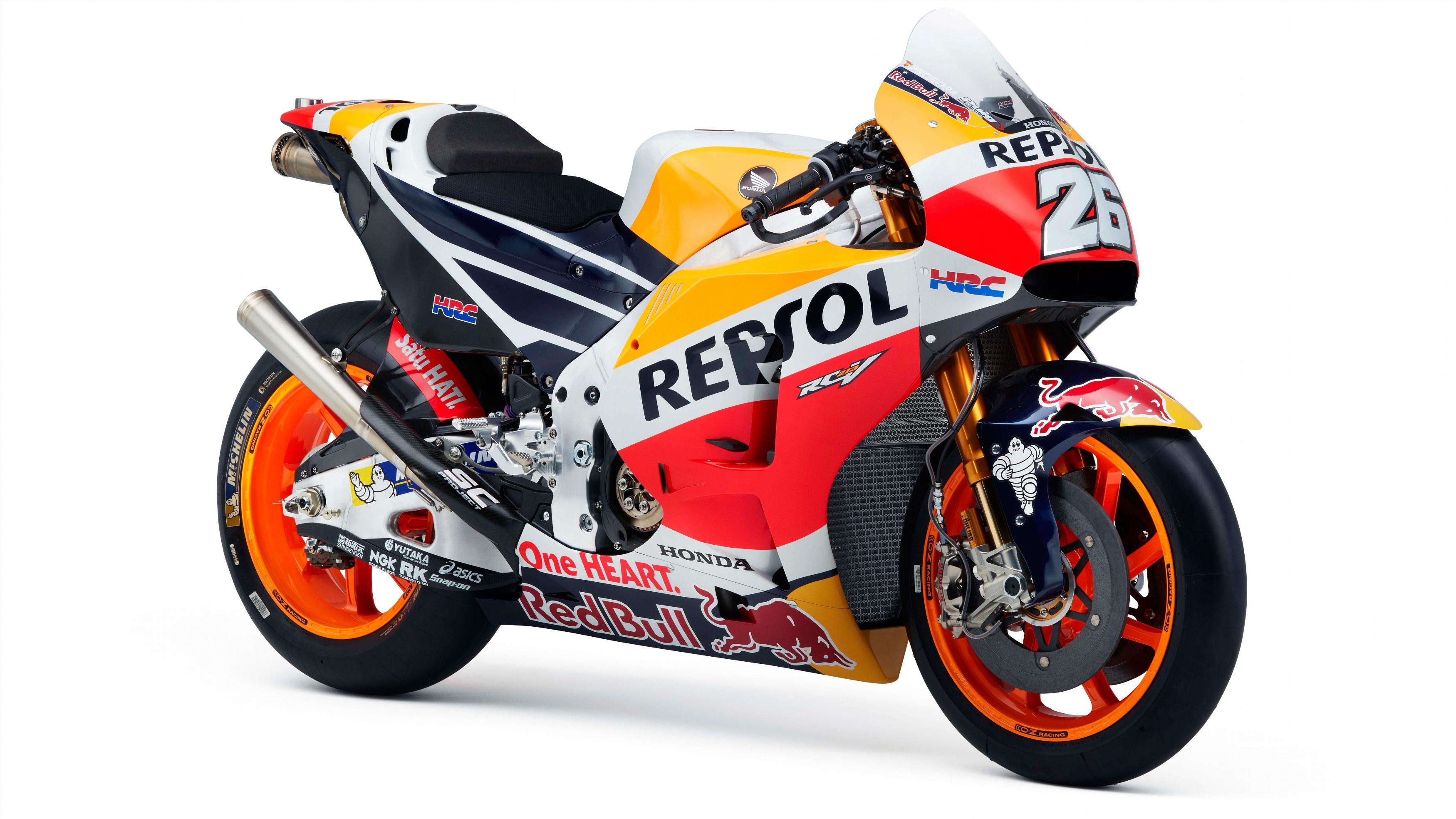 Репсол Хонда rc213v MotoGP в 8к. обои скачать